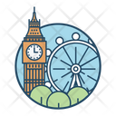 London Famous Building Landmark Icon