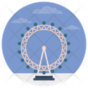 London Eye Ferris Wheel Giant Wheel Icon