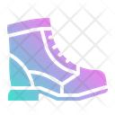 Long Boot Lather Boot Footwear Icon