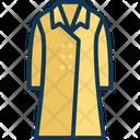 Long Coat Garment Clothing Icon