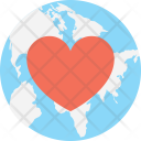Heart Globe World Icon