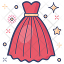 Long Frock Woman Dress Attire Icon