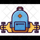 Longboard Backpack Teenager Icon