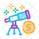 Look Telescope Money Icon