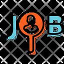 Looking Job Plan Presentation Icon