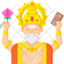 Lord Brahma Icon