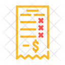 Losing Money Receipt Icon