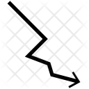 Decreasing Line Arrow Icon