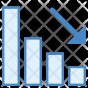 Bar Chart Loss Icon