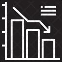 Bar Graph Down Icon