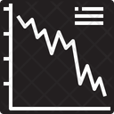 Line Graph Down Icon