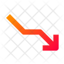 Stats Graph Loss Icon