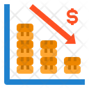Profit Arrow Down Bar Chart Icon