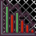 Decrease Recession Bar Chart Icon