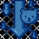 Bearish Bear Market Investment Icon