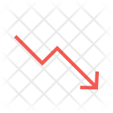 Trending Down Loss Icon