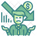 Loss Businessman Icon