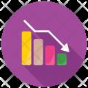 Statistical Analysis Decrease Icon