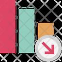 Loss Chart Loss Graph Decreasing Chart Icon