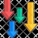 Arrows Loss Downward Icon