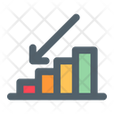 Business Down Downfall Icon