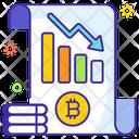 Lost Bitcoin Bitcoin Abatement Crypto Decline Icon