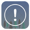 Warning Night Forest Icon