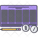 Lottery Ball Pencil Icon