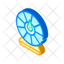 Wheel Fortune Isometric Icon