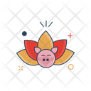 Chinese Lotus Flower Icon