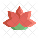 Lotus Flower Decoration Icon