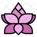 Flower Wellness Hinduism Icon