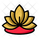 Lotus Flower Yoga Icon