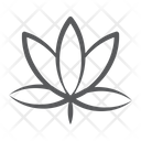 Flower Peace Sign Lotus Icon
