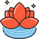 Lotus Flower Relax Icon
