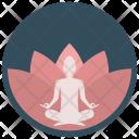 Lotus Meditation Silent Icon