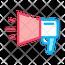 Webshop Loudspeaker Advertising Icon