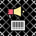 Qr Code Loudspeaker Icon