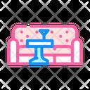 Lounge Area Color Icon