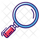 Loupe Magnifier Research Icon