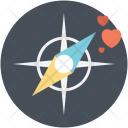 Compass Love Way Icon