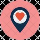 Heart Location Like Icon