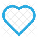 Blue Heart Like Icon