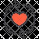 Sync Love Love Sync Synchronization Icon