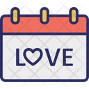 Love Love Calendar Love Day Icon
