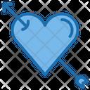 Arraw Heart Loving Love Icon