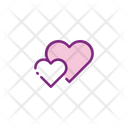 Love Heart Two Heart Icon