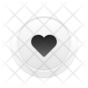 Love Button Skeuomorph Icon