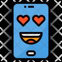 Love Smartphone Face Icon