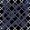Heart Arrow Romance Icon